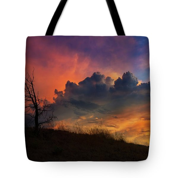 Sunset In Central Oregon Tote Bag by David Gn