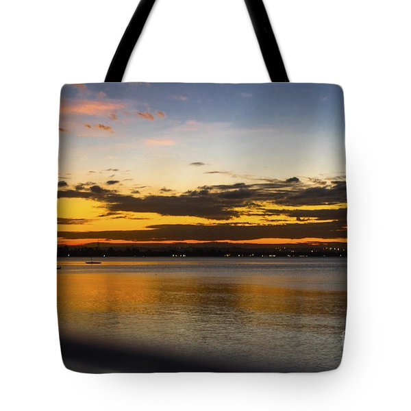 Tote Bag featuring the photograph Sunset In Dar by Pravine Chester