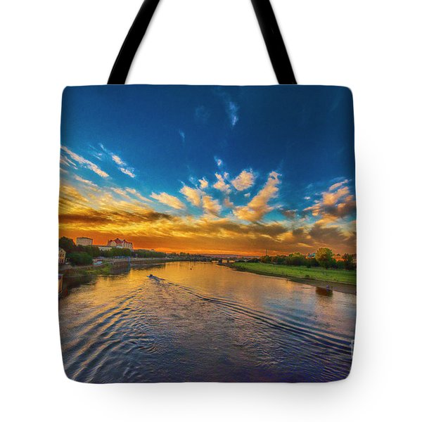 Sunset In Dresden Tote Bag by Pravine Chester