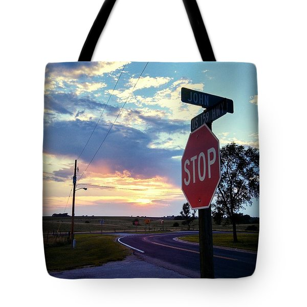 Sunset In Effingham Fair Tote Bag by Dustin Soph