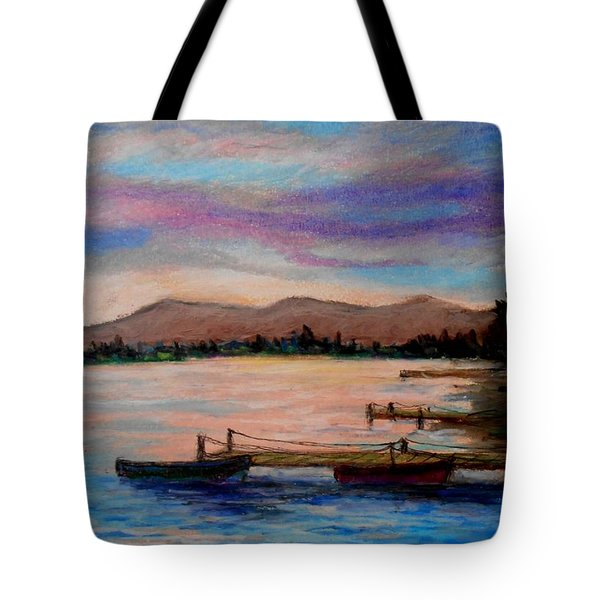 Sunset In Evia Tote Bag
