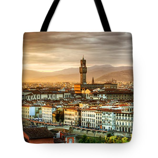 Sunset In Florence Tote Bag