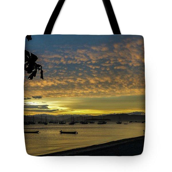 Sunset In Florianopolis Tote Bag