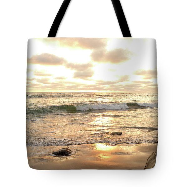Sunset In Golden Tones Torrey Pines Natural Preserves #2 Tote Bag