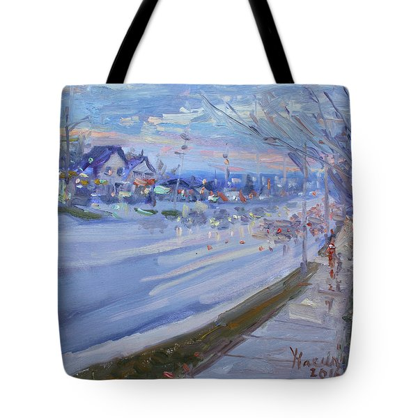 Sunset In Guelph St Georgetown On Tote Bag