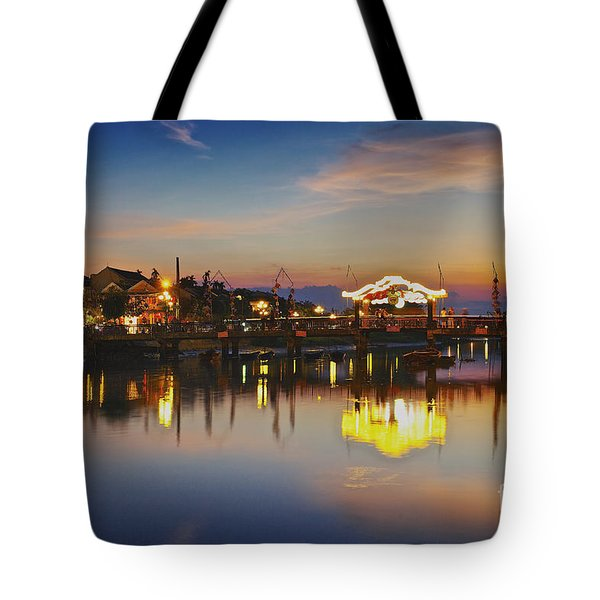 Sunset In Hoi An Vietnam Southeast Asia Tote Bag
