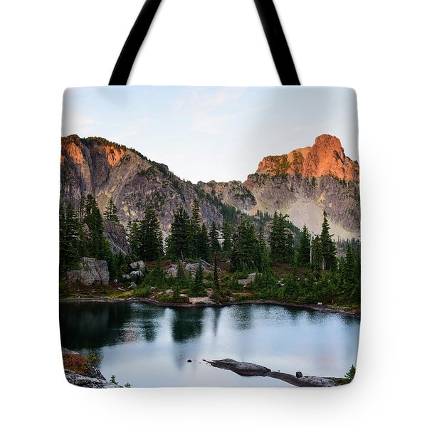 Sunset In Lila Lakes And High Box Mountain Tote Bag