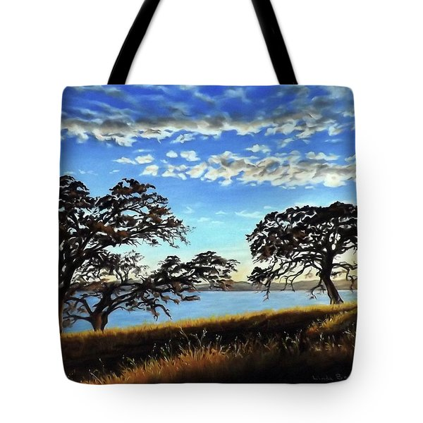 Sunset In Lucerne Tote Bag by Linda Becker