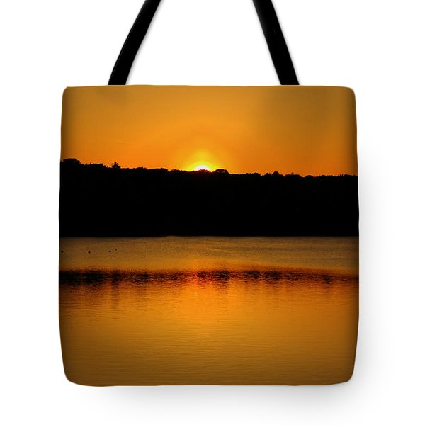 Sunset In Medford Tote Bag