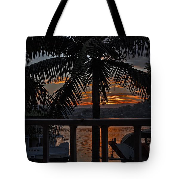 Tote Bag featuring the photograph Sunset In Mwanza by Pravine Chester