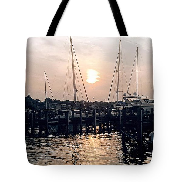 Sunset In Nantucket Tote Bag