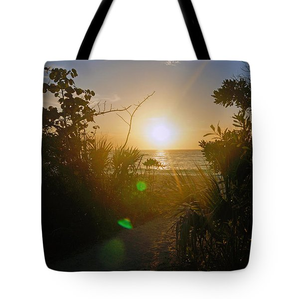 Sunset In Naples At Barefoot Beach Tote Bag