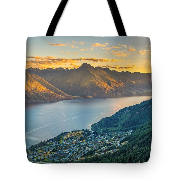 Sunset In New Zealand Tote Bag