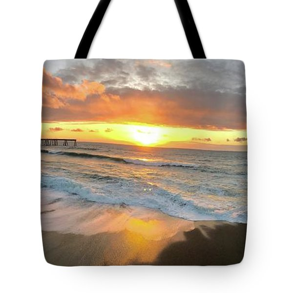 Sunset In Pacifica Tote Bag
