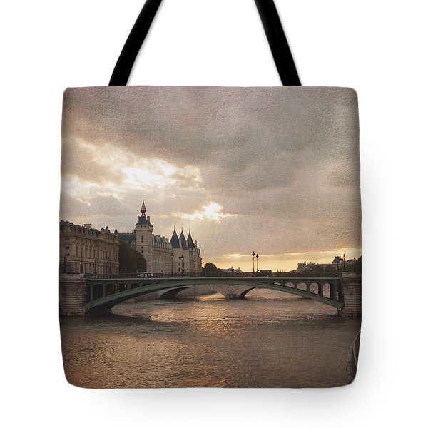 Sunset In Paris Tote Bag