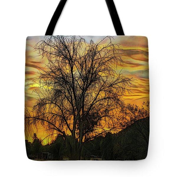 Sunset In Perris Tote Bag