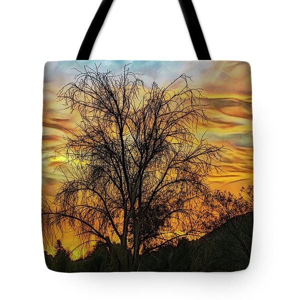 Sunset In Perris Tote Bag