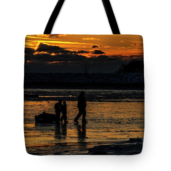 Sunset In Port Colborne Tote Bag