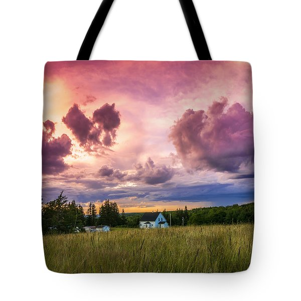 Sunset In Rear Intervale Tote Bag by Ken Morris