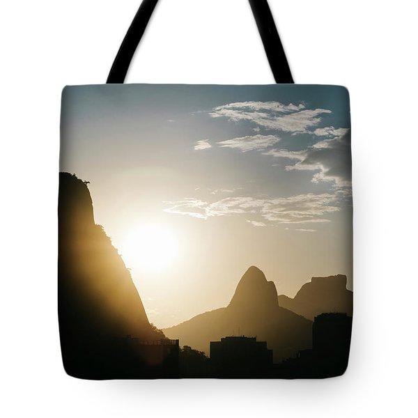 Sunset In Rio De Janeiro, Brazil Tote Bag