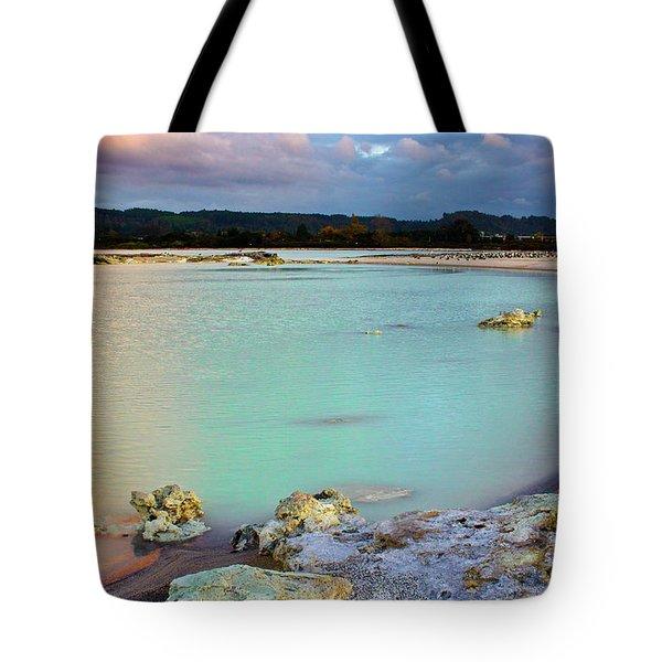 Sunset In Rotorua New Zealand Tote Bag