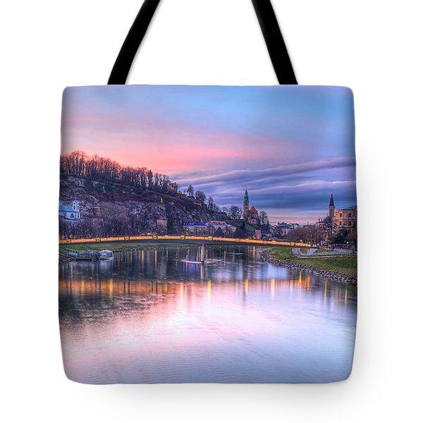 Sunset In Saltzburg Tote Bag
