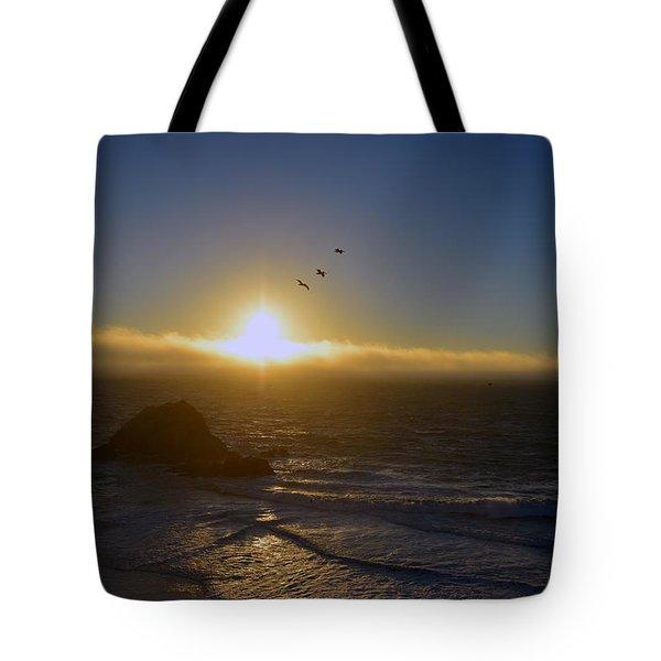 Sunset In San Francisco Tote Bag