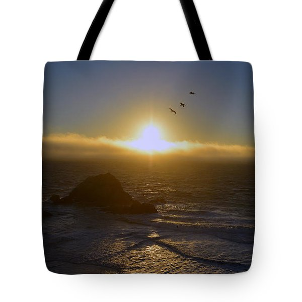 Sunset In San Francisco Tote Bag