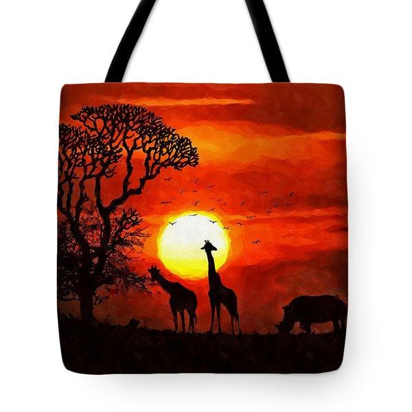 Sunset In Savannah Tote Bag