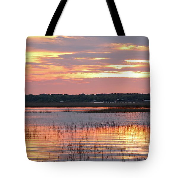 Sunset In South Carolina Tote Bag