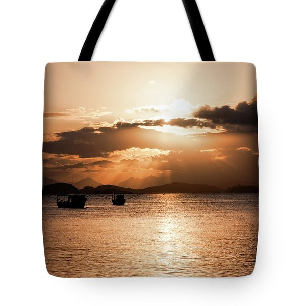 Sunset In Southern Brazil Tote Bag