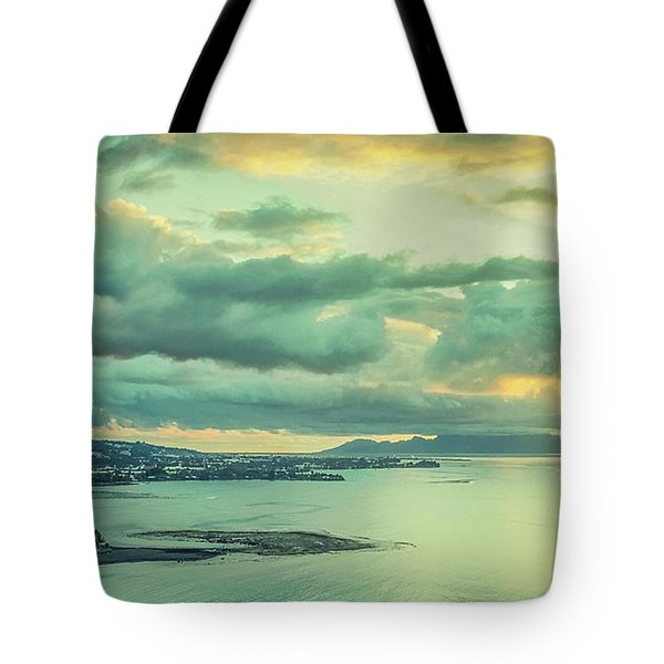 Tote Bag featuring the photograph Sunset In Tahiti by Gary Slawsky