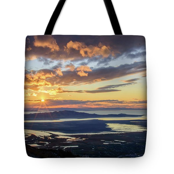 Tote Bag featuring the photograph Sunset In The Desert by Bryan Carter
