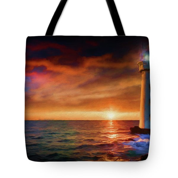 Sunset In The Bay Tote Bag