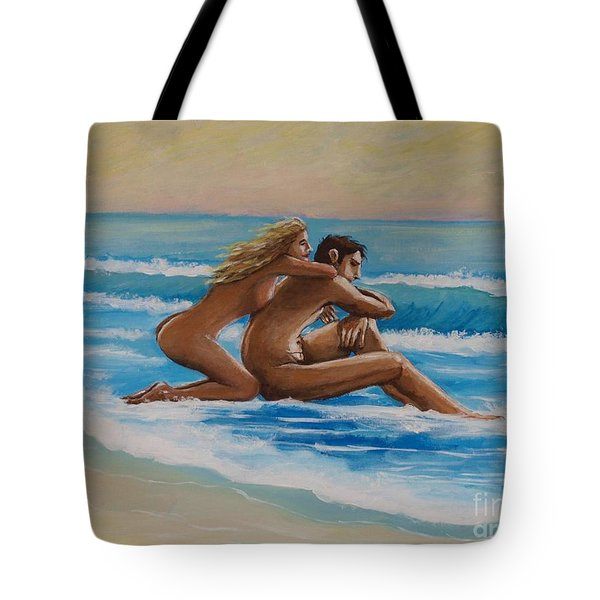 Sunset In The Beach Tote Bag