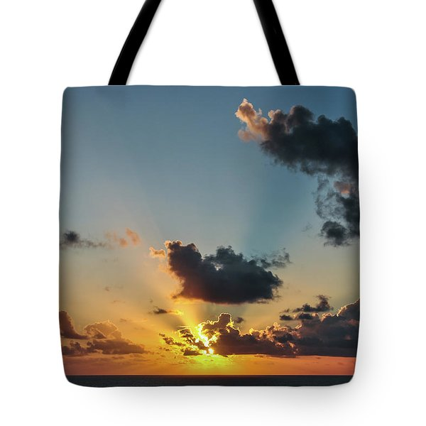 Sunset In The Caribbean Sea Tote Bag