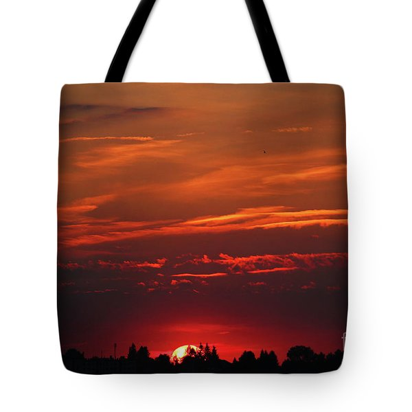 Sunset In The City Tote Bag by Mariola Bitner