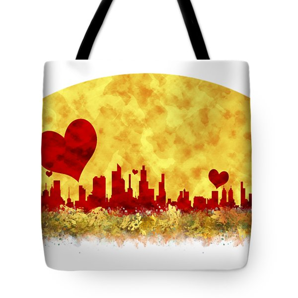 Sunset In The City Of Love Tote Bag