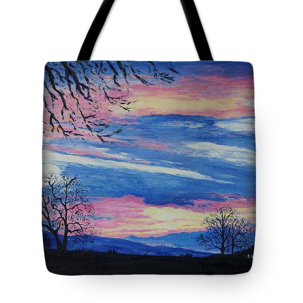 Sunset In The Country Tote Bag