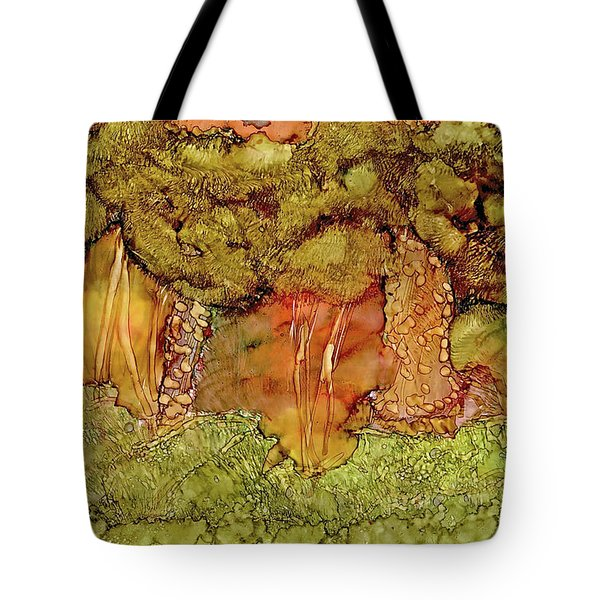 Sunset In The Forest Tote Bag