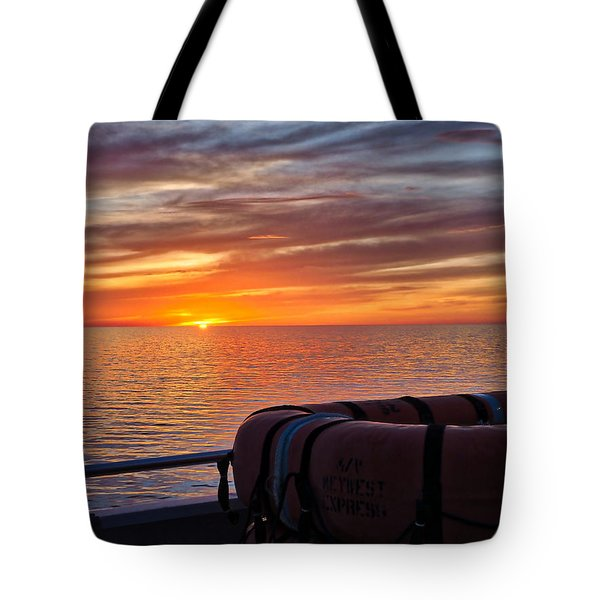 Sunset In The Gulf Tote Bag