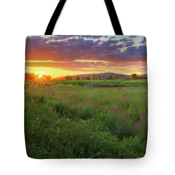Tote Bag featuring the photograph Sunset In The Hills 2017 by Bill Wakeley