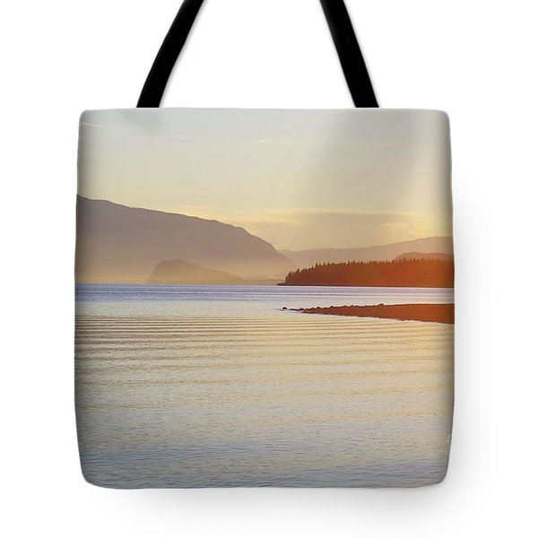 Sunset In The Mist Tote Bag by Victor K