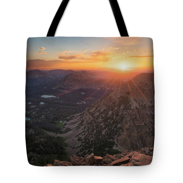 Sunset In The Uinta Mountains Tote Bag