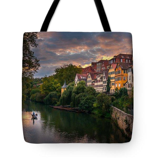 Sunset In Tubingen Tote Bag