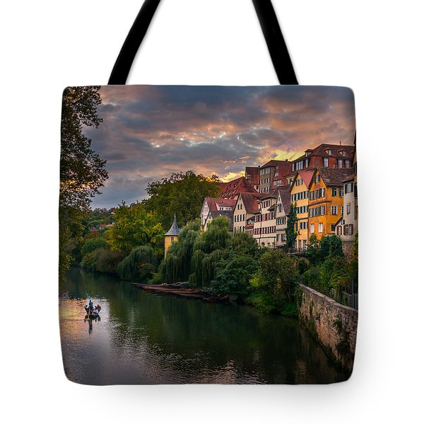 Sunset In Tubingen Tote Bag