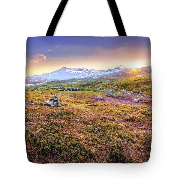 Tote Bag featuring the photograph Sunset In Tundra by Dmytro Korol