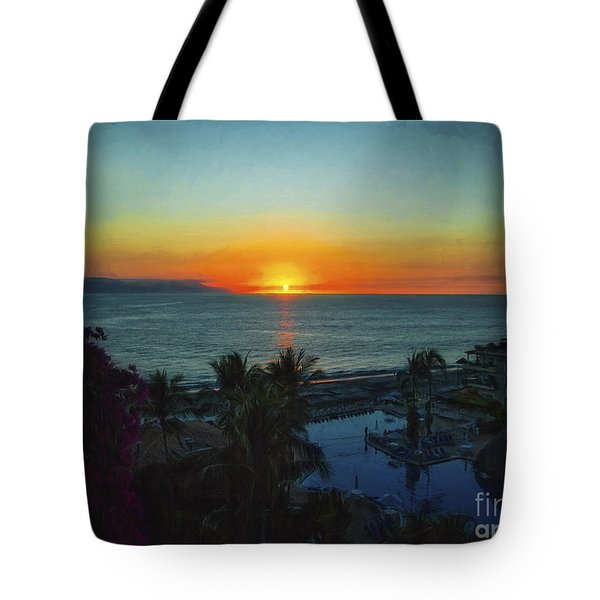 Sunset In Vallarta  ... Tote Bag by Chuck Caramella