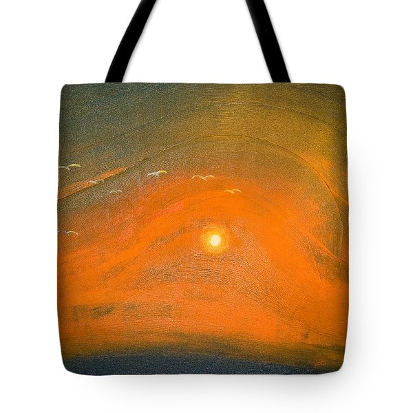 Tote Bag featuring the painting Sunset In Valleys by Piety Dsilva