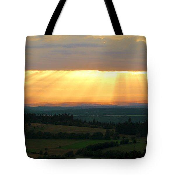 Sunset In Vogelsberg Tote Bag